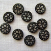 10 x Saskia Black Shell Buttons - 11mm