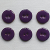 6 x Purple Enamelled Coconut Shell Buttons - 18mm