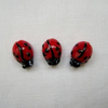 3 x Glass Ladybird Beads (8x11mm)