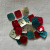 36 x Little Square Shell Buttons