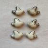 6 x Ceramic Dove Beads (20x15mm)