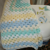 Pram/Pushchair Blanket in assorted soft colours