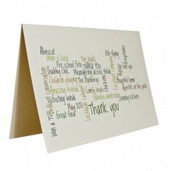 Personalised Thank you Custom Greetings Card