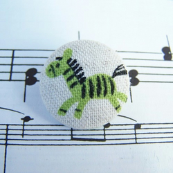 Fabric Buttons - Zingy Zebras
