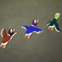 duck hunt wall frieze