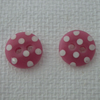 Button stud earrings (sterling silver)- dusky pink or red