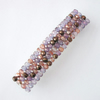 Crystal glass beaded hair clip- purple and copper mix