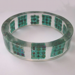 Beads in resin bangle