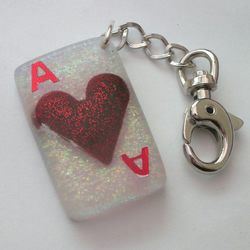 Ace of Hearts keyring/bag charm ~ Seconds