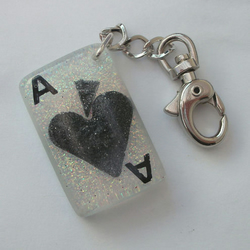 Ace of Spades keyring/bag charm ~ Seconds