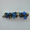 Blue and silver pearl hair clip