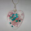 Glittery resin heart pendant