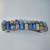 Colourful glass bead hair clips- choice of 4 colours