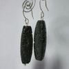 Lava rock and sterling silver earrings