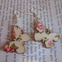 Floral butterfly earrings