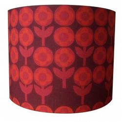 Peter Hall Verdure 60's vintage fabric lampshade.