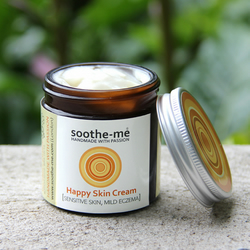 Happy Skin Cream - for sensitive skin, eczema on face with Calendula 60ml
