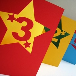 Any Number Hand Cut Greetings Card