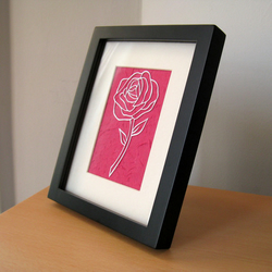 'Beauty' Rose Papercut
