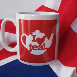 'I Love Tea'! Mug, Red