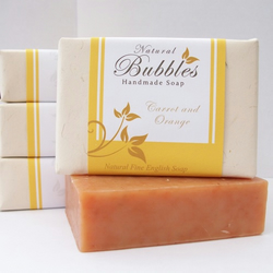 Carrot and Orange ~ 100% Natural Soap with added Shea Butter ~