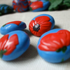 poppy buttons (set of 4)