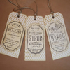 Vintage Label Gift Tags