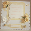 Personalised floral wedding card with gift box