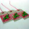 Rustic holly Christmas gift tags