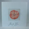 Handmade, any occasion card - peach flowers, just for you