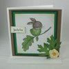Cute bunny handmade any occasion greetings card