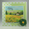 Handmade, any occasion card - summer meadow