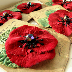 Remembrance Poppy Corsage 2011