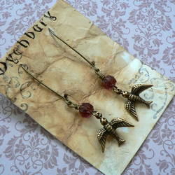 Blackberry Thief Bird Earrings