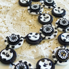 FY-029 - BLACK AND WHITE - MODERN BUTTONS HANDMADE NECKLACE