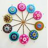 A Pair Of Handmade Flower design Felt Bobby Pins - choose your own color