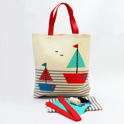 Sailing Boats Bag sewing kit