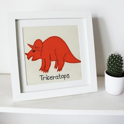 Triceratops stitched picture