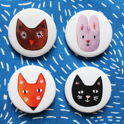 Four pet badges