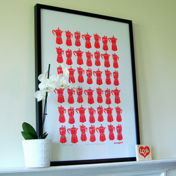 Moka Express original screen print - bright red