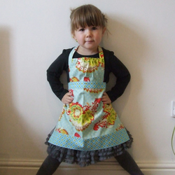 Small girl/Toddler 'Freya' apron with gathered detail