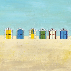 'Beach Huts' Limited Edition Print