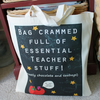 Personalised Teacher Stuff Bag Great comical gift for teachers apple gold star