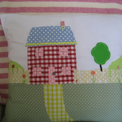 summer cottage cushion cover