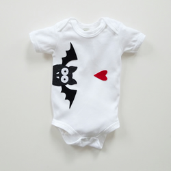 Baby Bat Organic Bodysuit : Baby Boy, Baby Girl, Baby Shower, Baby Halloween