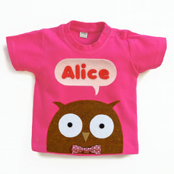 Organic Baby Owl T-Shirt : 3 months up to 5 years