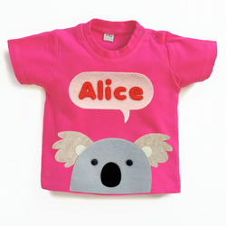 Personalised Baby Koala T-Shirt : 3 Months To 5 Years