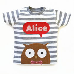 Personalized Baby Owl T-Shirt, Baby Shower Gift, Baby Girl