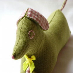 Green and Pink Gingham doggy