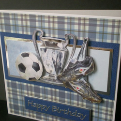 footie mad~birthday card